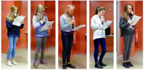Lecture de poèmes par les enfants de Saint-Jacut