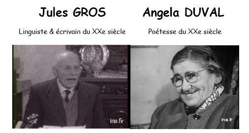 On parle d'Angela Duval et de Jules Gros…