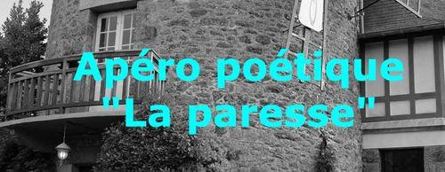 La paresse, thème du 2e apéro poétique de cet automne