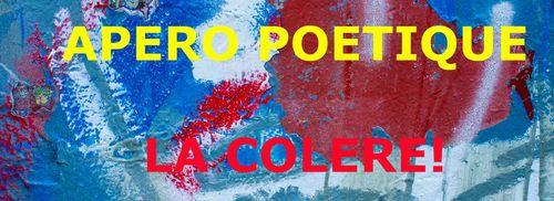 La colère, thème du prochain apéro-poétique