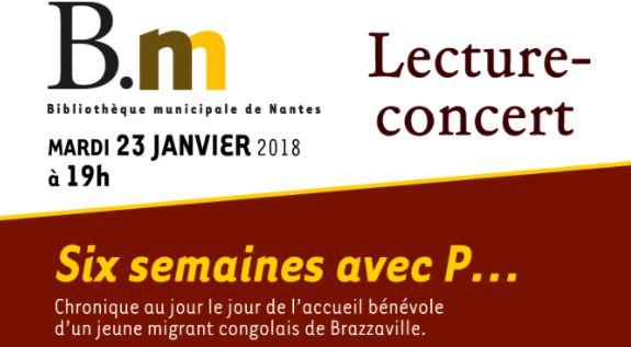 Lecture-Concert à Nantes le 23 janvier