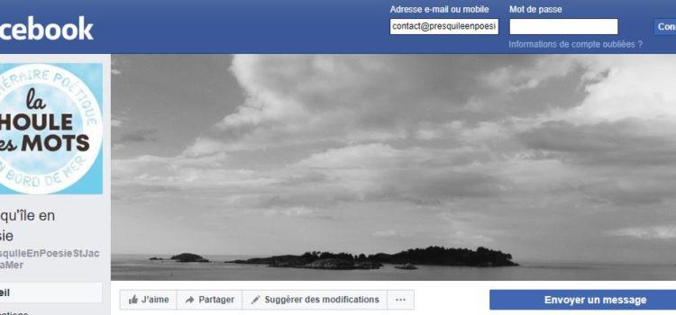 «Presqu'île en poésie» a sa page Facebook