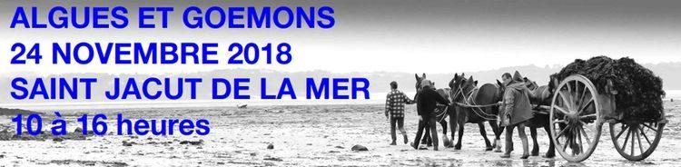 Journée Algues et Goëmons le 24 novembre 2018 à Saint-Jacut de la Mer