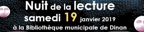 Nuit de la lecture à Dinan le 19 janvier 2019