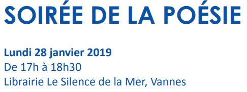 Soirée de la poésie le 28 janvier 2019 à Vannes