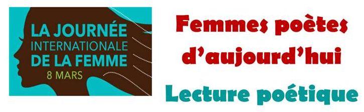 Femmes poètes d'aujourd'hui, le 8 mars à Saint-Lunaire