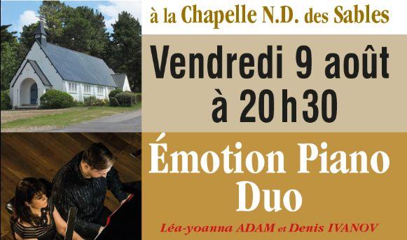 Vendredi 9 août – Concert émotion piano duo aux Sables d'Or