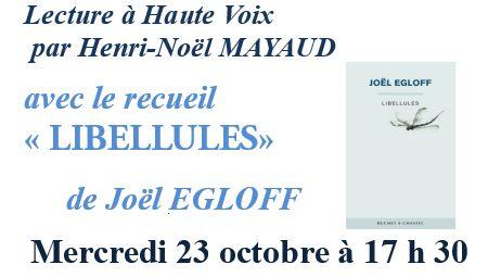 Lecture à haute voix … à Saint-Jacut le 23 octobre