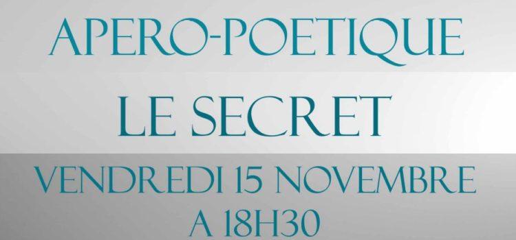 Le secret, thème de l'apéro-poétique du 15 novembre 2019 au Bretagne