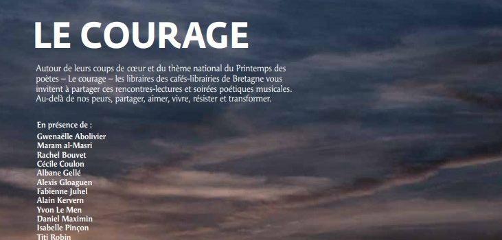 Programmation des cafés-librairies de Bretagne à l'occasion du Printemps des Poètes