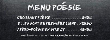 Sur le site de l'éditeur Bruno Doucey, apéro poétique tous les jours à 18h30